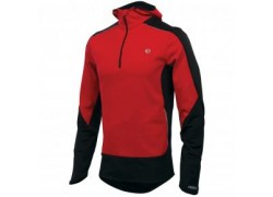 ΜΠΛΟΥΖΑ ELITE INFINITY WINDBLOCKING HOODY ΜΕ ΜΑΚΡΥ ΜΑΝΙΚΙ & ΚΟΥΚΟΥΛΑ MEN PEARL IZUMI  TRUE RED/BLACK M